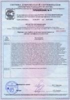 Приложение №4 к Сертификату соответствия