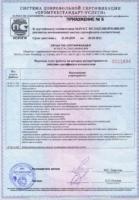 Приложение №5 к Сертификату соответствия